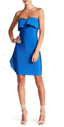 Wow Couture Strapless Ruffle Bodycon Dress