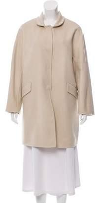 Ermanno Scervino Wool Knee-Length Coat