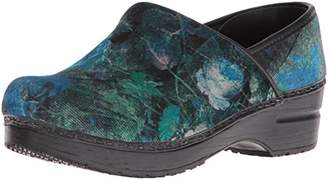 Sanita Women's Vegan-Velvet Flower Mule