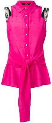 Karl Lagerfeld Paris sleeveless button-up blouse