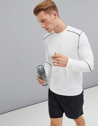 New Look SPORT stretch long sleeve top in white