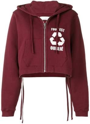 Faith Connexion cropped zipped hoodie