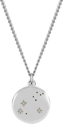 No 13 - Leo Zodiac Constellation Necklace Diamonds & Silver