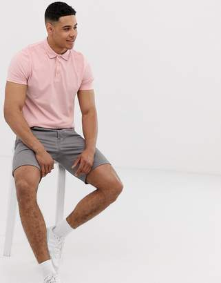 Asos Design DESIGN jersey polo in pink