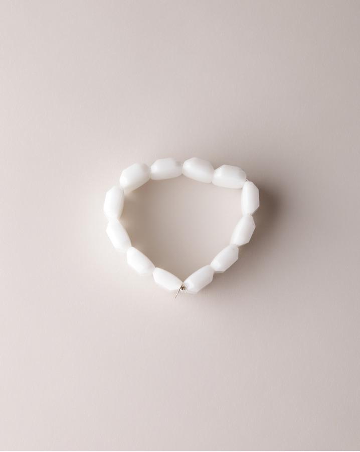 Saskia Diez white emerald bracelet