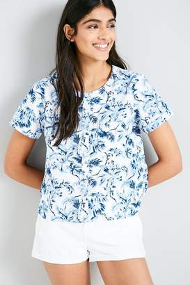 Jack Wills Devin Printed Collarless Shirt