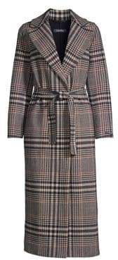 Max Mara Tenna Plaid Wrap Coat
