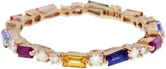 Suzanne Kalan Rainbow Sapphire Firework Eternity Ring - Rose Gold