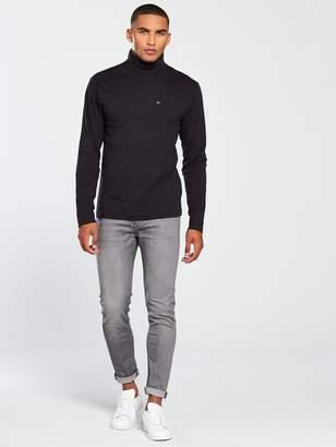 Calvin Klein Jeans CK Jeans Logo Long Sleeve Turtle Neck Jersey Top