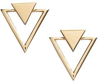 Women's Nadri Triangle Stud Earrings $45 thestylecure.com