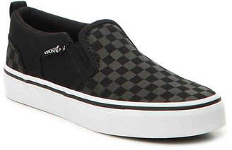Vans Asher Checker Toddler & Youth Slip-On Sneaker - Boy's
