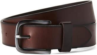 Tallia Burnished Cut Edge Genuine Leather Belt