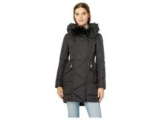 French Connection Asymmetrical Faux Fur Puffer Women's Coat