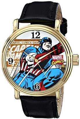 Marvel Men's W001766 The Avengers Captain America Analog-Quartz Black Watch