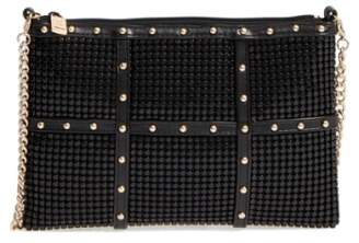 Whiting & Davis Studded Crossbody Clutch