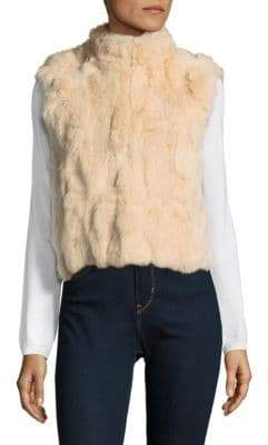 Adrienne Landau Textured Rabbit Fur Vest