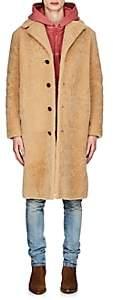 Saint Laurent Men's Shearling Long Coat - Ivorybone