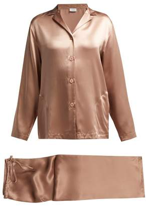 La Perla Silk Satin Pyjama Set - Womens - Light Pink