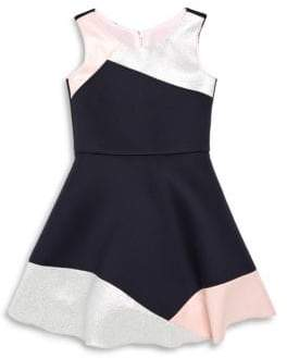 Girl's Peyton Colorblocked A-Line Dress