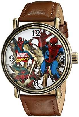 Marvel Men's W001761 Spider-Man Analog-Quartz Brown Watch