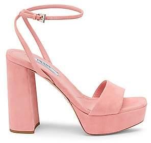 Prada Women's Suede Ankle-Strap Platform Sandals
