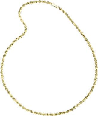 JCPenney FINE JEWELRY 10K Yellow Gold 22 Hollow Rope Chain Necklace