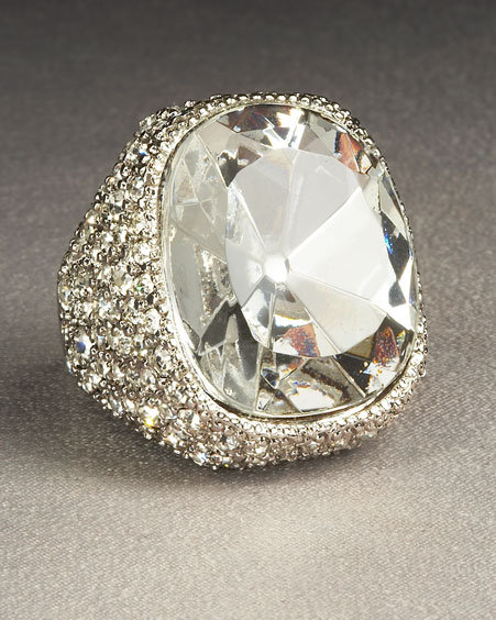 Kenneth Jay Lane Cocktail Ring, Clear