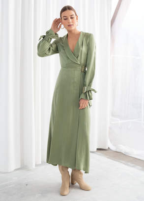 And other stories Belted Wrap Maxi Dress