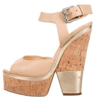 Giuseppe Zanotti Platform Leather Sandals