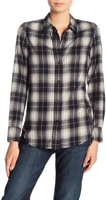 Vince Oversized Plaid Button Down Shirt