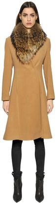 Camel Coat With Murmasky Fur $1,122 thestylecure.com