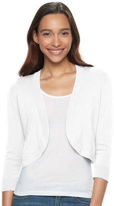 Women's Apt. 9® Solid Cropped Shrug $36 thestylecure.com