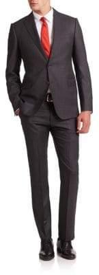 Armani Collezioni Two-Button Virgin Wool Suit