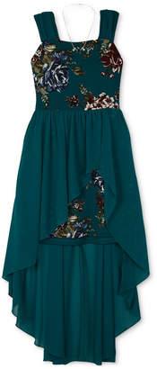 BCX Big Girls Plus 2-Pc. High-Low Hem Dress & Necklace Set