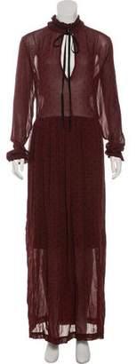 Ganni Long Sleeve Maxi Dress w/ Tags