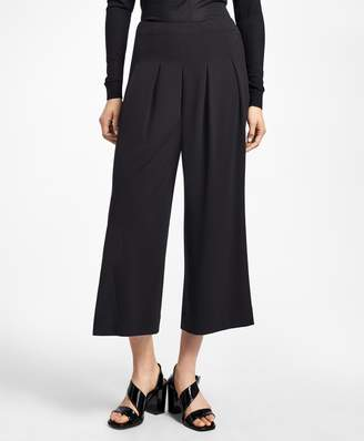 Brooks Brothers Cropped Crepe Palazzo Pants