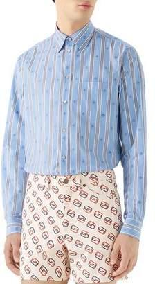 b17930bb09 White Gucci Bee Shirt - ShopStyle