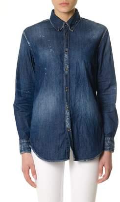 DSQUARED2 Denim Shirt In Cotton