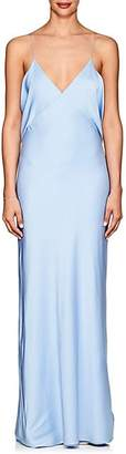 The Row Women's Gran Matte Silk Charmeuse Gown - Baby Blue