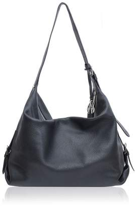 Amanda Wakeley Costner Black Leather Hobo Bag