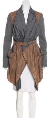 Brunello Cucinelli Belted Leather Coat w/ Tags