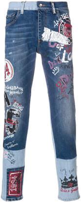 Dolce & Gabbana graffiti effect jeans