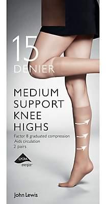 6f55042e7ad John Lewis   Partners 15 Denier Medium Support Knee High Socks