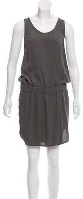 Brunello Cucinelli Satin-Trimmed Silk Dress