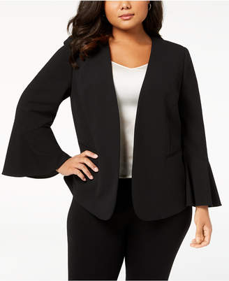 Nine West Plus Size Bell-Sleeve Blazer