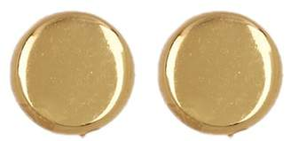 Argentovivo 18K Gold Plated Sterling Silver Flat Button Stud Earrings