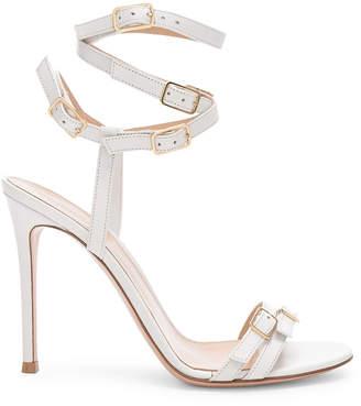 Gianvito Rossi Cassandra Buckle Strappy Heel in White | FWRD
