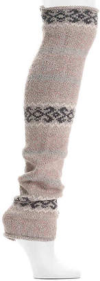 Lemon Fairisle Leg Warmers - Women's