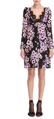 Giambattista Valli Floral Lace Trim A-Line Dress