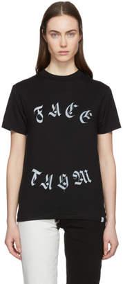Facetasm Black Round Logo T-Shirt